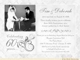 60th Wedding Anniversary Invitation Wording Fashionable 50th Anniversary Photo Invitation Design