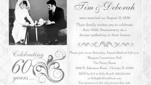 60th Wedding Anniversary Invitations Free Templates Fashionable 50th Anniversary Photo Invitation Design