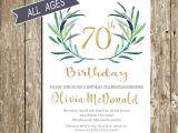 70 Year Old Birthday Invitations 70th Birthday Invitation Birthday Invitations for Woman