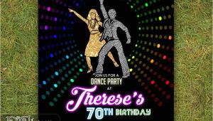 70s theme Party Invitations Disco Invitation 70 39 S Disco Dance Night Party Invite Neon