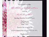 70th Birthday Brunch Invitations 90th Birthday Party Invitation Gerbera Daisy 5 25