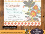 70th Birthday Brunch Invitations Bright Wildflower Birthday Invitation 30th 40th 50th 60th
