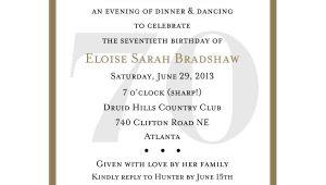 70th Birthday Invitation Wordings 70th Birthday Party Invitation Wording