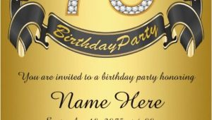 75th Birthday Invitation Card Ideas 75th Birthday Invitations 50 Gorgeous 75th Party Invites