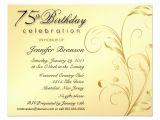 "75th Birthday Invitation Card Ideas Elegant 75th Birthday Surprise Party Invitations 4 25"" X 5"