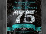 75th Birthday Invitation Ideas 25 Best Ideas About 75th Birthday Invitations On