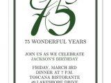 75th Birthday Invitation Ideas 75th Birthday Invitations Many Colors