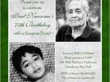 75th Birthday Invitation Wording Ideas 75th Birthday Invitation Green & Gray Party Two S