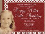 75th Birthday Invitation Wording Ideas 75th Birthday Invitations Sayings