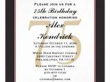 75th Birthday Invitation Wording Ideas Personalized 75th Birthday Invitations