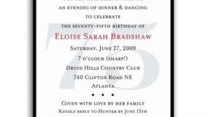 75th Birthday Party Invitation Wording 16 75th Birthday Invitations Unique Ideas Birthday