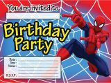 7th Birthday Invitation for Boy Spiderman theme Spiderman Childrens Birthday Party Invitations Invites