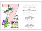 7th Birthday Invitation Message 10 Best Of 7th Birthday Party Invitations 7th
