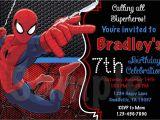 7th Birthday Invitation Spiderman theme Birthday Invitation Spiderman theme Cobypic