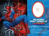 7th Birthday Invitation Spiderman theme Blank Spiderman Invitations – Invitetown