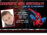 7th Birthday Invitation Spiderman theme Cu896 Spiderman Birthday Invitation Boys themed