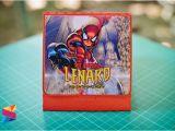 7th Birthday Invitation Spiderman theme Lenard Spiderman themed 7th Birthday Invitation Stunro
