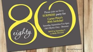 80 Year Old Birthday Party Invitations Free Printable 80th Birthday Invitations Drevio