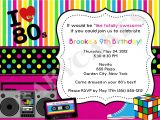 80s 90s Party Invitation Template 80 39 S Invitation 80 39 S Birthday 80 39 S theme Birthday