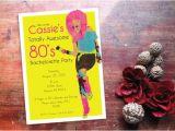 80s Bachelorette Party Invitations 80 39 S Glam Girl Bachelorette Party Invitations