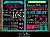 80s Bachelorette Party Invitations Bachelorette Invitation Bachelorette Party Bachelorette