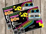 80s Bachelorette Party Invitations totally Eighties Retro Party Invite 80s Birthday Party