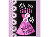 8th Birthday Invitation Templates Girl 8th Birthday Party Pink Dress Template W1172 5×7