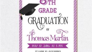 8th Grade Graduation Invitation Ideas 8th Grade Graduation Invite Printable Graduation Invitation