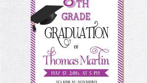 8th Grade Graduation Invitation Wording 8th Grade Graduation Invite Printable Graduation Invitation