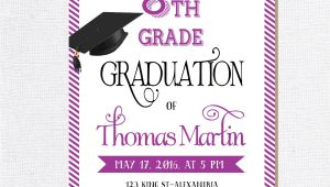 8th Grade Graduation Invitations Free 8th Grade Graduation Invite Printable Graduation Invitation
