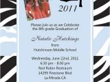 8th Grade Graduation Party Invitation Wording Graduation Invitations and Announcements Use for Any