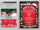 A5 Party Invitation Template Christmas Invitation Template V6 by Lou606 Graphicriver