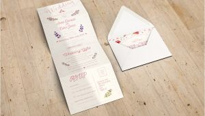 Accordion Wedding Invitations Accordion Wedding Invitation Mockup Www Idesignstudio Net