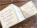 Accordion Wedding Invitations Mini Mint Wedding Invitation Accordion Style Misiu