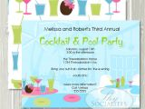 Adult Pool Party Invitations Cocktail Pool Party Invitation Adult Pool Party Cocktail