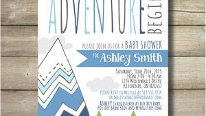 Adventure themed Baby Shower Invitations Adventure Baby Shower Invite Invitation by