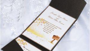 Affordable Pocket Wedding Invitations Cheap Garden Rustic Tree Pocket Wedding Invitation Iwps095