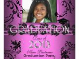 African American Graduation Invitations African American Graduation Party Pink Girl Photo 5 25