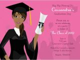 African American Graduation Invitations Grad Girl African American Graduation Invitations by
