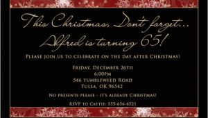 After Christmas Party Invitations Day after Christmas Birthday Invitation Gentleman