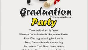 After Graduation Party Invitations Graduation Party Invitation Wording Wordings and Messages
