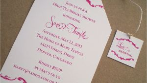 Afternoon Tea Bridal Shower Invitation Wording High Tea Bridal Shower Invitations