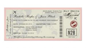 Airline Ticket Wedding Invitation Template Free Airline Ticket Wedding Invitation Zazzle