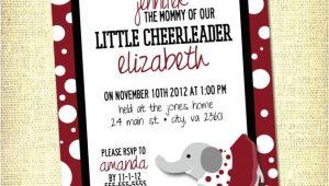 Alabama Baby Shower Invitations University Of Alabama Big Al Inspired Baby Shower