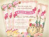Alice In Onederland Birthday Invitations Printable Ederland First Birthday Party Invitation Alice
