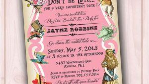 Alice In Wonderland Bridal Shower Invitation Template 5 Best Of Alice In Wonderland Invitations Printable