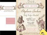 Alice In Wonderland Bridal Shower Invitation Template Alice In Wonderland Baby Shower Invitations Template