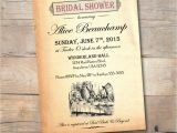 Alice In Wonderland Bridal Shower Invitation Template Alice In Wonderland Bridal Shower Invitation Vintage Mad