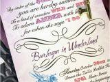 Alice In Wonderland Bridal Shower Invitation Template Alice In Wonderland Bridal Shower Invitations with