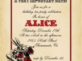 Alice In Wonderland Bridal Shower Invitation Template Playing Card Alice In Wonderland Invitation Bridal Shower